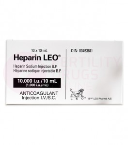 Heparin Sodium Injections (Shots) 100IU/mL 1000IU/mL and 10000IU/mL
